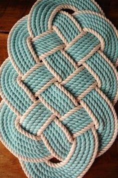 Resultado de imagen para how to make a rustic rope rug