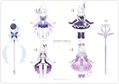 Design Batch 16 by Black-Quose on DeviantArt Anime Weapons, Fantasy Weapons, Galaxy Outfit, Anime Girl Dress, Drawing Anime Clothes, Estilo Anime, Weapon Concept Art, Fashion Design Drawings, Cool Tones