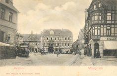 Historische Aufnahme vom Marktplatz in Wernigerode.
