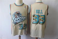Detroit Pistons  33 Grant Hill Retro Swingman Basketball Jersey 4dcdec5be