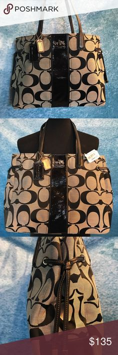 "NWT Coach handbag. Beautiful brand new Coach handbag still has tags and comes with dust bag. 11"" long by 14"" wide. ❤️😊🐾 Coach Bags Shoulder Bags"