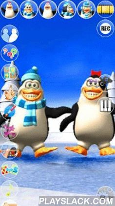 Talking Pengu & Penga Penguin  Android App - playslack.com ,  Talk to Talking Pengu & Penga Penguin. They answer with their funny voices and react to what you say or your touch. Now with 8 exciting inside games with many levels to play and the new amazing sound board!Features:✔ High quality 3D graphics✔ Voice interaction/animations✔ Piano✔ New amazing soundboard with many funny sounds: cow, burp, gun, music, clap, etc.✔ Special sound effectsExtra Content and Games:★ Exciting touch game…