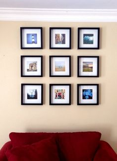 We print and finish all of this at printstagram.co.za but we found this lovely post on hanging ... check it out! http://todaysmama.com/2014/01/printing-framing-instagram-photos/