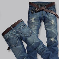 13.29$  Buy here - http://ali6lm.shopchina.info/1/go.php?t=32761754582 - Jeans Men Pants Fear of God Trousers Pant Boost Biker Balmai Man Printing Masculina Ripped Jeans for Men Casual litter hole  #bestbuy