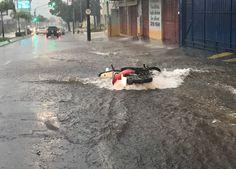 Forte chuva inunda avenidas, derruba moto e atrapalha o trânsito em Botucatu - Fotos Acontece Botucatu    A forte chuva que atingiu Botucatu no fim da tarde deste domingo, dia 05, mais uma vez assustou pelo volume de água nas principais vias da cidade. Na Avenida Vital Brasil, como de costume, o córrego Água Fria transbordou, impondo enorme dificuldade aos - http://acontecebotucatu.com.br/cidade/forte-chuva-inunda-avenidas-derruba-moto-e-atrapalha-o-transito-em-botuca