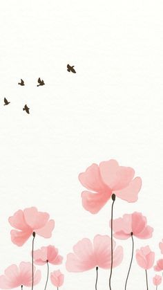 #wallpaper #iPhone #aves #flores #pink