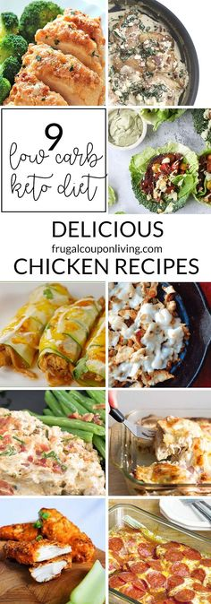 A low carb- keto diet never looked so good with these 9 delicious chicken recipes. One thing that's great about being on the keto diet is the delicious cheese, the cream, and the meats.  Remember that the keto diet is low in carbs high in fat with moderate protein so adding that cream and butter makes the recipes even tastier and on the diet.