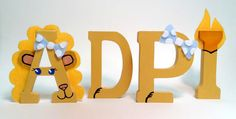 ADPi Lion Letters!!! I want these, but I don't think I am crafty enough to make them