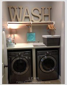 My future laundry area
