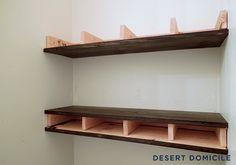 DIY $15 Chunky Wooden Floating Shelves | Desert Domicile