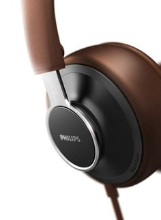 Check this out on leManoosh.com: #Brown #Chrome #Circle #Comfort #Headphones #Leather #Metal #Philips Best Headphones, Sports Headphones, Audio Headphones, Audiophile Headphones, Shape Design, Diy Design, Design Trends, Rules For Kids, Fitness Gadgets