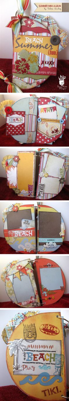 Summer Mini Album by Valerie Sanchez for Fancy Pants Designs - Click image to find more DIY & Crafts Pinterest pins