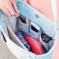 The interior of the New Daring Abbey handbag is just as wonderful as it's silhouette! www.mythirtyone.com/bethesmith