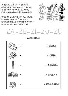 atividades silábicas letra V e Z