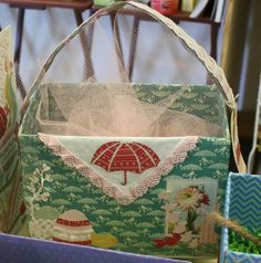 Easter basket using Authentique and Cosmo Cricket papers