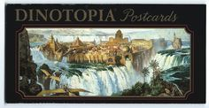 Dinotopia Set 8 Postcards Book Jame Gurney Greenwich Workshop 1993 - Other