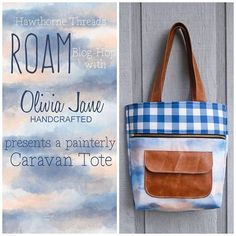 Did you catch the latest stop on our Roam Blog Hop?! Olivia Jane Handcrafted of @thefooshe fame has sewn up the most glorious @noodlehead531 CaravanTote in our Buffalo Plaid in Midnight and Big Sky in Dawn. Head over  to her blog for a peek at the inside that's just as pretty as the front, and for your chance to WIN SOME ROAM FABRIC! #hawthornethreads #RoamFabric #caravantote