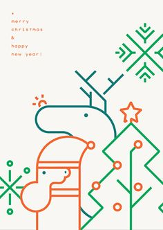 merry christmas on Behance