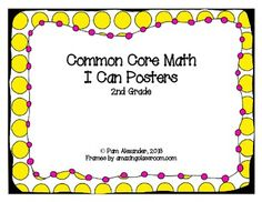 2nd Grade Common Core Standards I Can Posters