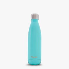 The new Swell Bottle, Turquoise Blue, featured in a teal satin finish. Made with double walled stainless steel.