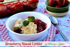 Mommy's Kitchen - Home Cooking & Family Friendly Recipes: Stawberry Biscuit Cobbler #SavetheBiscuit