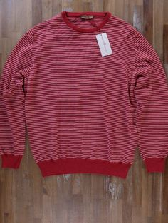 auth LUCIANO BARBERA red striped cashmere sweater - Size XXL / 54 EU - NWT | Clothing, Shoes & Accessories, Men's Clothing, Sweaters | eBay!