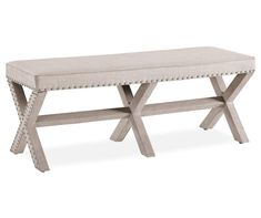 I found a Beige Upholstered X-Shape Base Bed Bench at Big Lots for less. Find more at biglots.com!