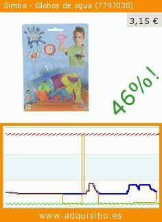 Simba - Globos de agua (7797030) (Juguete). Baja 46%! Precio actual 3,15 €, el precio anterior fue de 5,79 €. https://www.adquisitio.es/simba/7797030-globos-agua
