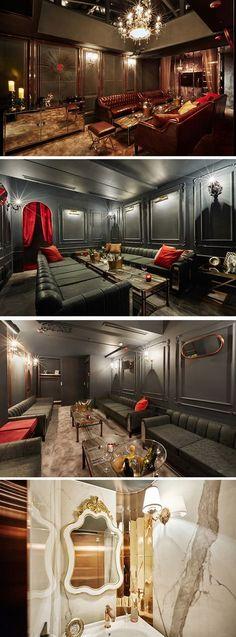 [No.259 KAT] 청담동 라운지바 인테리어, 고급, 앤틱, BAR, 바인테리어, 럭셔리, interior design Interior Architecture, Interior Design, Cafe Design, Drawing Room, Restaurant Design, Room Decor Bedroom, Karaoke, Entryway Decor, Bungalow