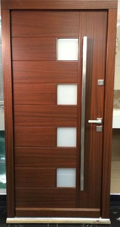 Modern Meranti Wood Front Entry Door IN STOCK Inquire Today ! http://www.modernhomeluxury.com