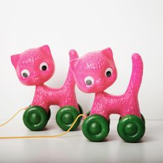 Pink Cat on Wheels | Carousel