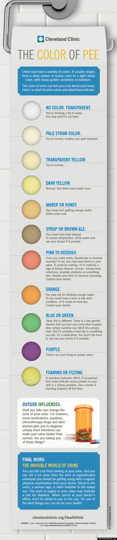 The Colour Of Your Wee Could Be Saying A Lot About Your Health (INFOGRAPHIC)