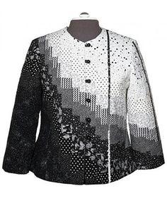Patchwork Jacket Pattern Vintage New Ideas Quilted Sweatshirt Jacket, Quilted Jacket, Sweatshirt Makeover, Sweatshirt Refashion, Tee Shirt, Quilted Clothes, Silk Jacket, Jacket Pattern, Couture