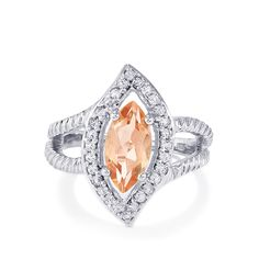 An attractive Ring from the Annabella collection, made of Sterling Silver featuring 2.57cts of charming Galileia Topaz and White Topaz.