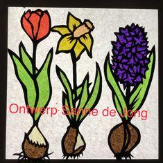 Transparant Tulp Narcis Hyacint Voorjaar lente. Waldorf Ontwerp Sanne de Jong
