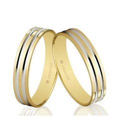 Alianzas de boda Oro 1ª Ley 18Kts. bicolor 4mm Argyor ref.5140210R 18K