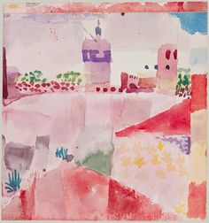 Paul Klee - Hammamet with its mosque, 1914
