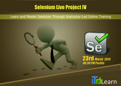 """ITeLearn is going to conduct """" #Selenium Live Project –IV"""" on March 23rd at 06.30 PM Pacific. Get ready for this upcoming live orientation session that will bridge the gap and make you job ready. #Selenium expert Karthik is going to cover comprehensive topics on Selenium and provide exposure on how to perform #AutomationTesting in Real Projects. Join this #webinar and gain the confidence to showcase your skills and expertise in #interviews…"""
