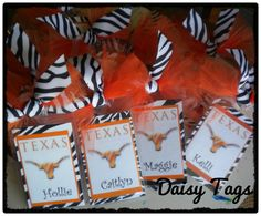 Texas UT Longhorn Bag Tag Personalized for cheer, dance, luggage, diaper bags, school, backpacks. Cheerleading Gifts, Competitive Cheerleading, Cheer Backpack, Ut Longhorns, Cute Backpacks, School Backpacks, Cheer Dance, Cheer Mom, Personalized Tags