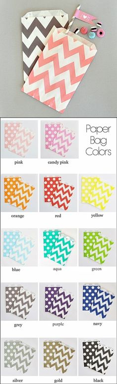 Non-Personalized Chevron & Dots Goody Bags