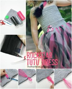 Twirly Rockstar Tutu Dress