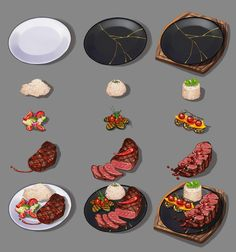 Creating Games, Can Of Soup, Food Sketch, Hand Painted Textures, Food Icons, Digital Painting Tutorials, Food Concept, Game Assets, Food Drawing