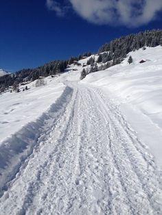 Verbier, snowy road!