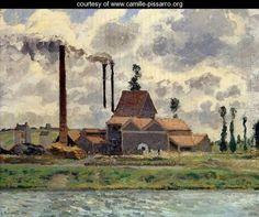 The Factory - Camille Pissarro - www.camille-pissarro.org