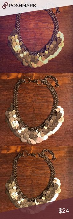 Anthropologie Coin Bib Necklace This was from a fellow posher! It has some patina but is supposed to as I've seen in every photo I've came across. Gorgeous statement piece!!! Anthropologie Jewelry Necklaces