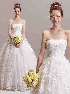 ウェディングドレス プリンセス ビスチェ コートトレーン 挙式 ブライダル 結婚式 B14TB0064