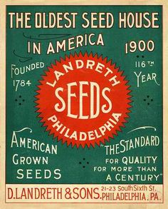 vintage Landreth Seeds seed catalog, victory garden, grow your own food Garden Catalogs, Seed Catalogs, Flower Catalogs, Vintage Prints, Vintage Posters, Vintage Toys, Vintage Art, Typography Letters, Lettering