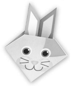 Printable Origami Bunny Page for Kids + Ways to Create with Paper