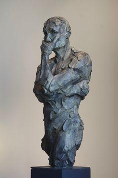 Sagace - bronze - 110 cm by Catherine Thiry #sculpturactgallery #bronzesculpture #catherinethiry photo by Gwendoline de Backer