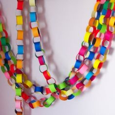 Birthday party garlands - an easy way to decorate your place for your next party. And your kids will love making them.